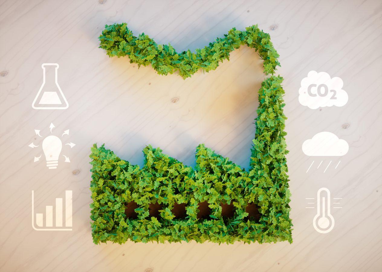 Konseptbilde av grønn fabrikk. Foto: Istock